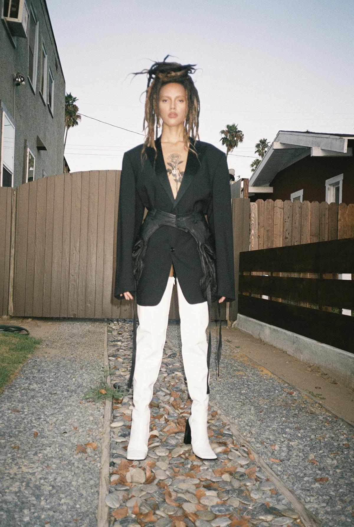 Dolce & Gabbana, Blazer, Vintage, Leather Pocket Chaps, Balenciaga Boots